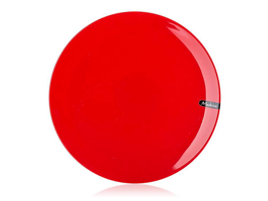 talíř d32cm servír., MADEIRA červený, keram.