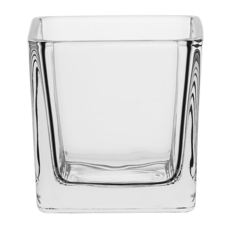 svícen 6x6x6cm, FRIDA, TREND, sklo