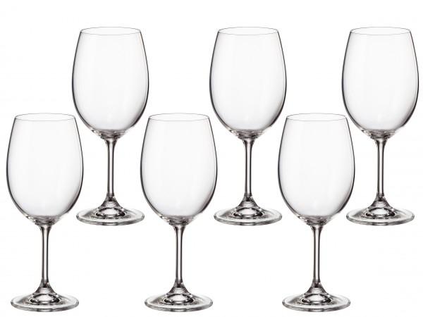 sklen. 450ml, 6ks, KLARA/SYLVIA červ.víno