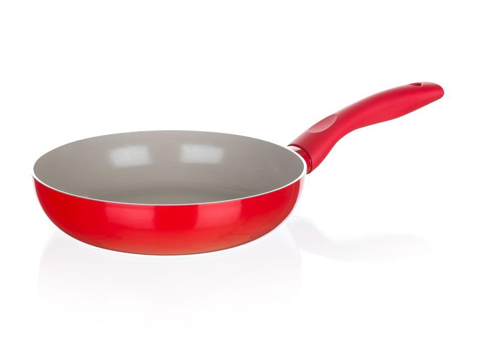 pánev d24x5,0cm MADEIRA červená,ker.pov.,indukce
