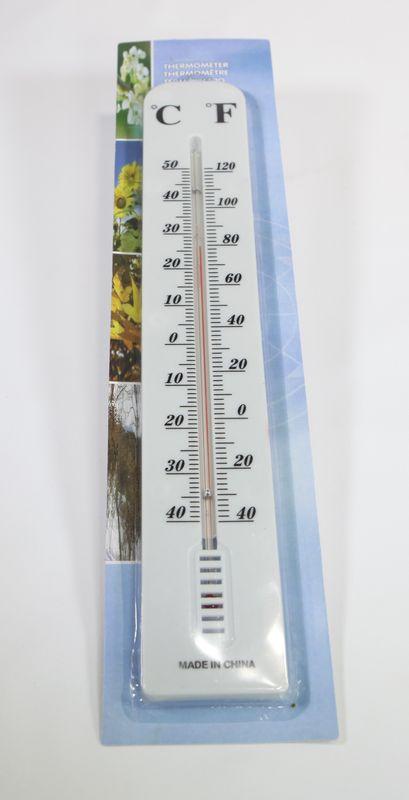 teploměr 40x6,5cm univ., -40°C+50°C, plast