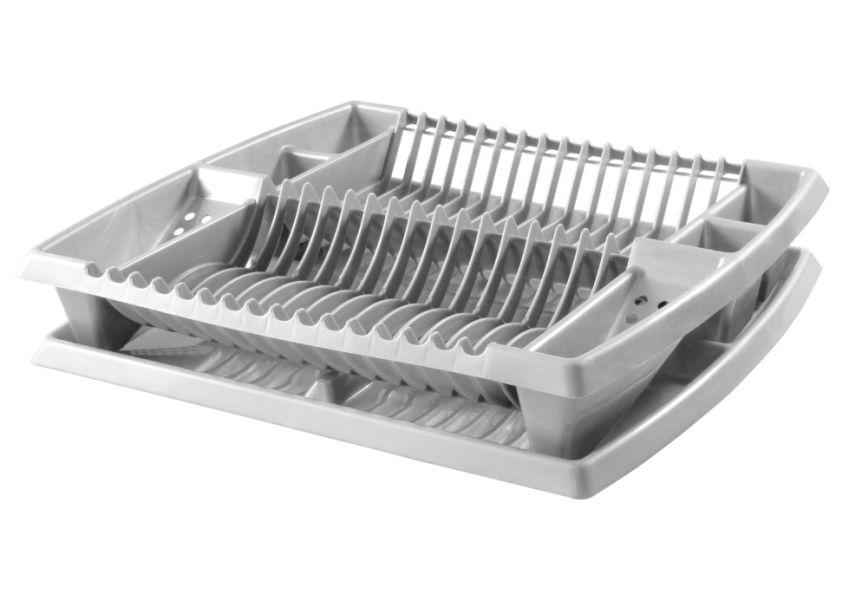 odkapávač 44x38x8,5-stříbrný na nádobí