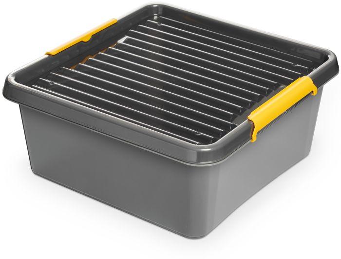 box 18,0l 39x39x16,5cm,SOLIDST., grafit,plast