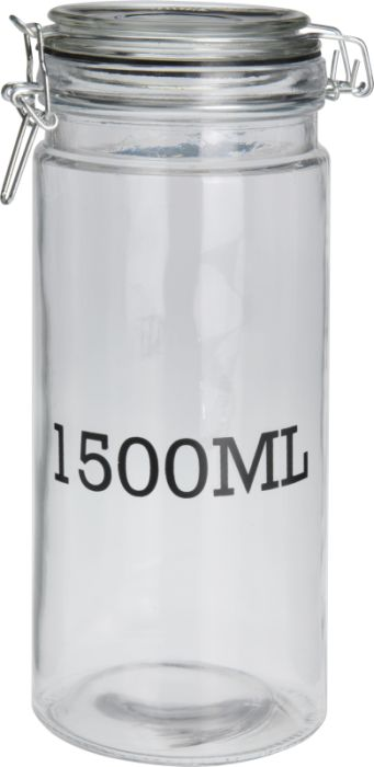 dóza 1,50l d10x 26cm, 1500ML, patentní, sklo