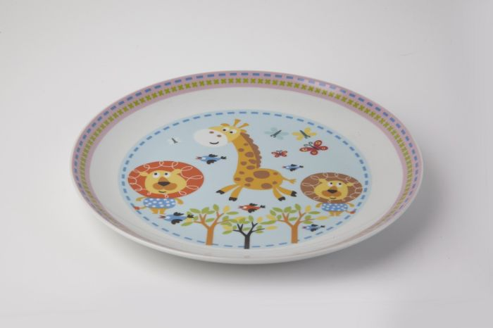 talíř d21cm mělký, SAFARI, dětský, porcelán
