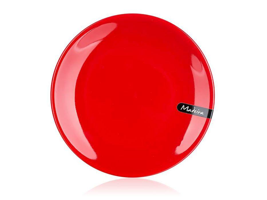 talíř d20cm dezertní, MADEIRA červený, keram.