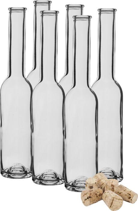 láhev 0,2l sklo úzká+kork.zátka