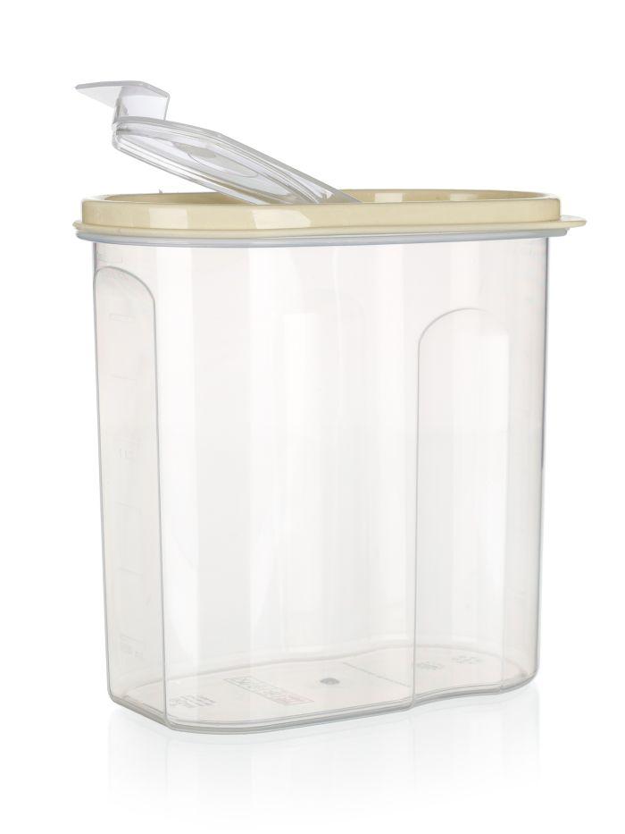 dóza 1,75l sypací, krémová, plast