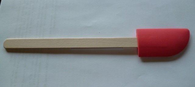 stěrka kuch. 26cm, 7,5x4cm silik./dřevo