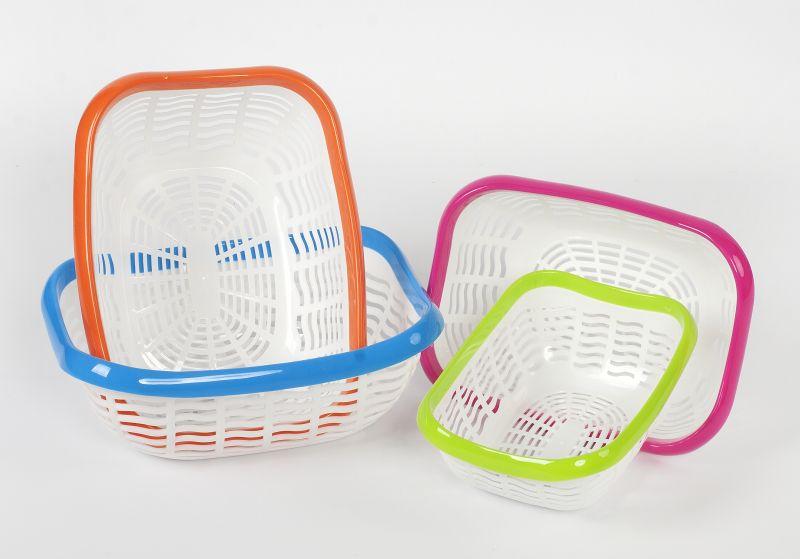 košík 31x23x11,5cm, 2barevný plast