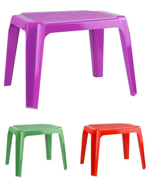 stůl 41x52x40cm, dětský, bílý, tm.zelený, krém, pl