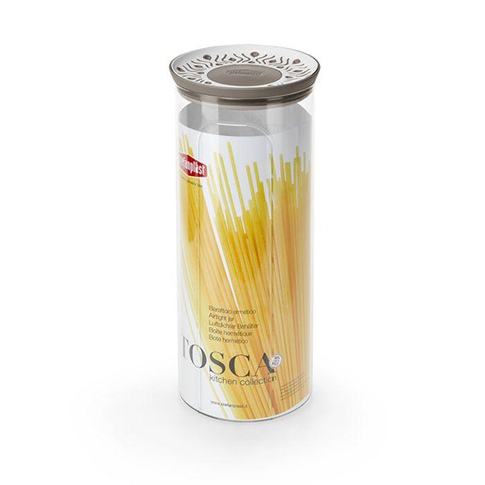 dóza 2,2l, d12x28cm, TOSCA, špagety, bílo-béž., pl