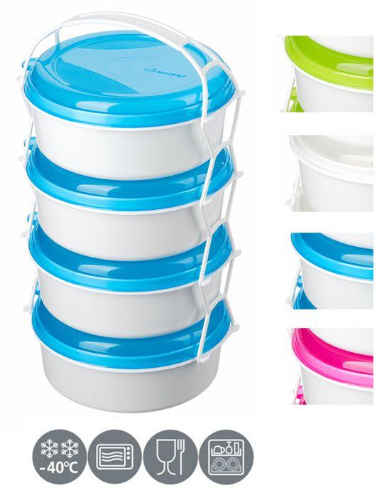 jídlonosič 4D (4x1,0l), 3barvy, ( i do MV trouby)