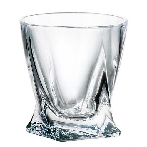 sklen. 340ml, 6ks, QUADRO whisky