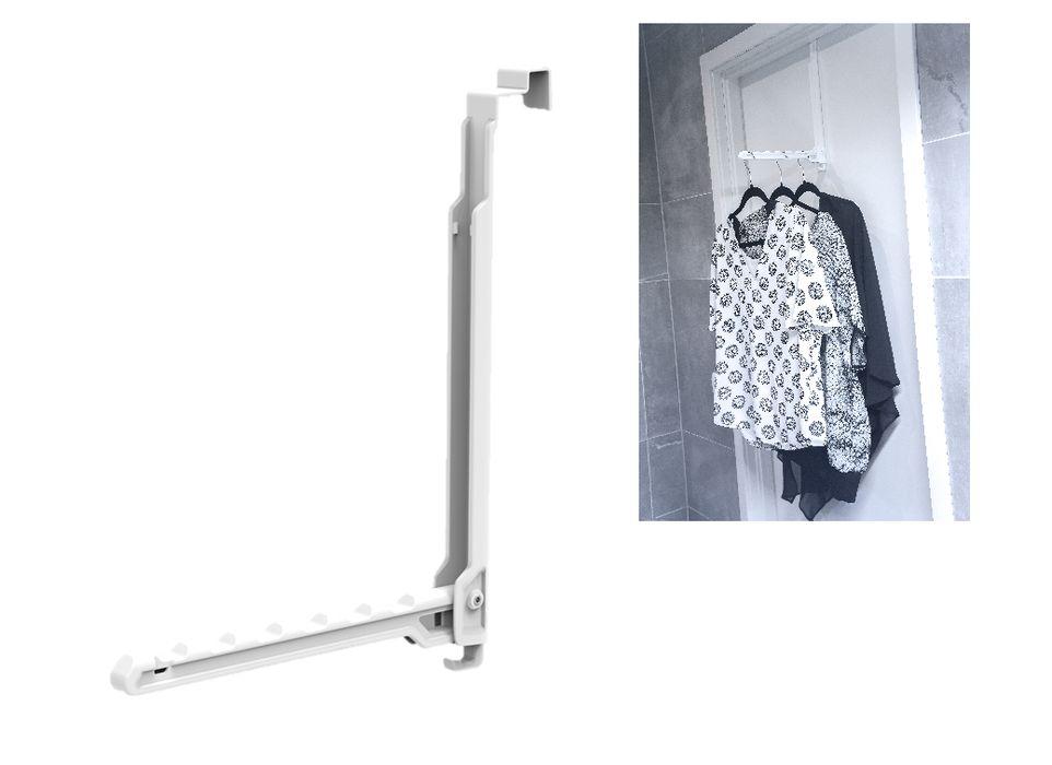 držák ramínek, sklopný, 37x28cm UNI, na dveře, pla