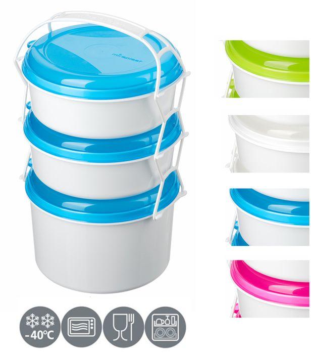 jídlonosič 3D (2x1,0l+1,9l) KOMBI, 3barvy, (i do M