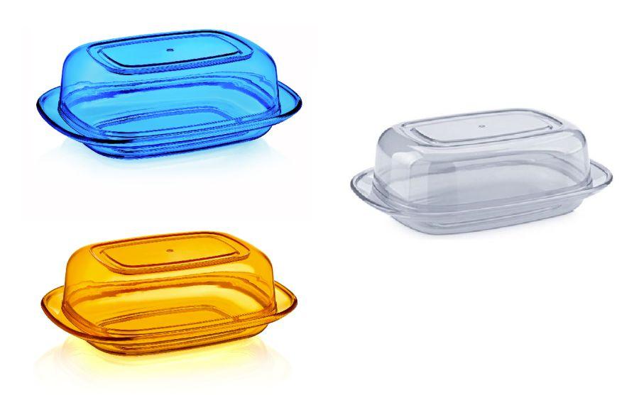 máslenka transparentní,mix barev,plast