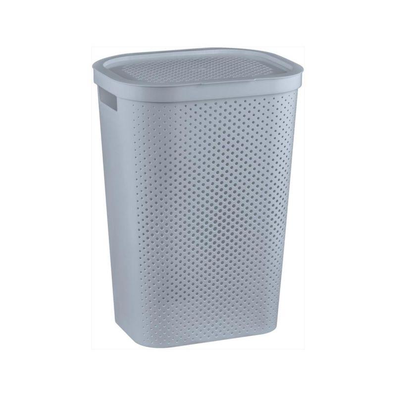 koš 59l na použ.prádlo INFINITY šedý(44x35x60cm)