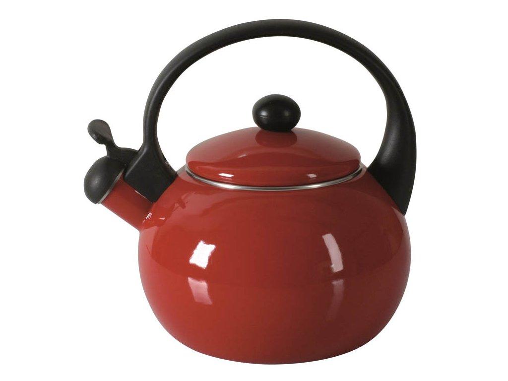 čajník 2,2l, červený, smalt