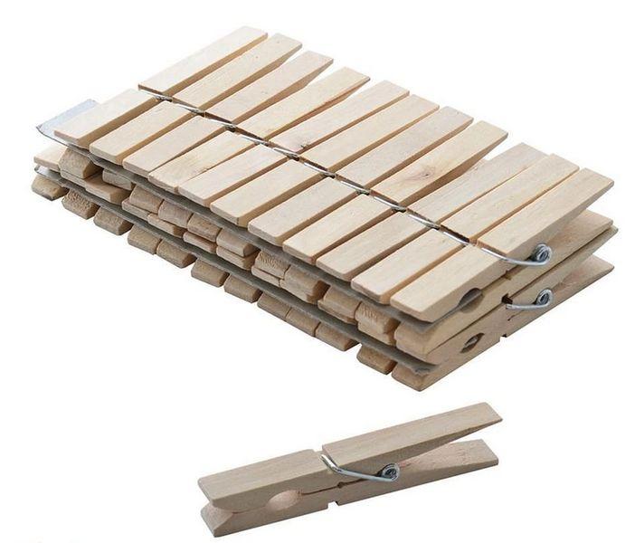 kolíčky 24ks(7,3cm), kov.pružina,dřevo