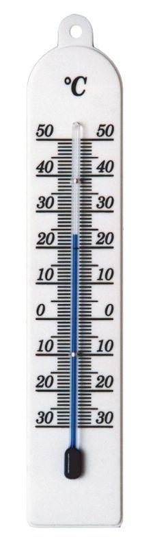teploměr 20,0x4,5cm univ., -30°C+50°C, PLASTIC bíl