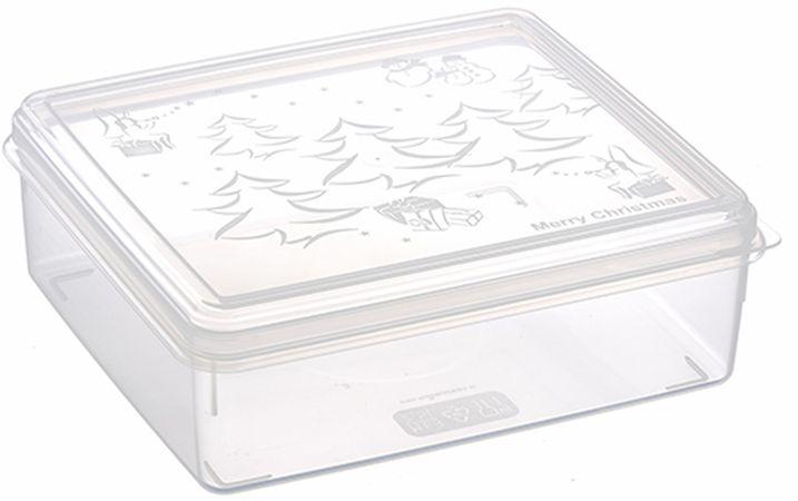 box  2,50l vánoční, 23x23x7,5cm, transp.plast