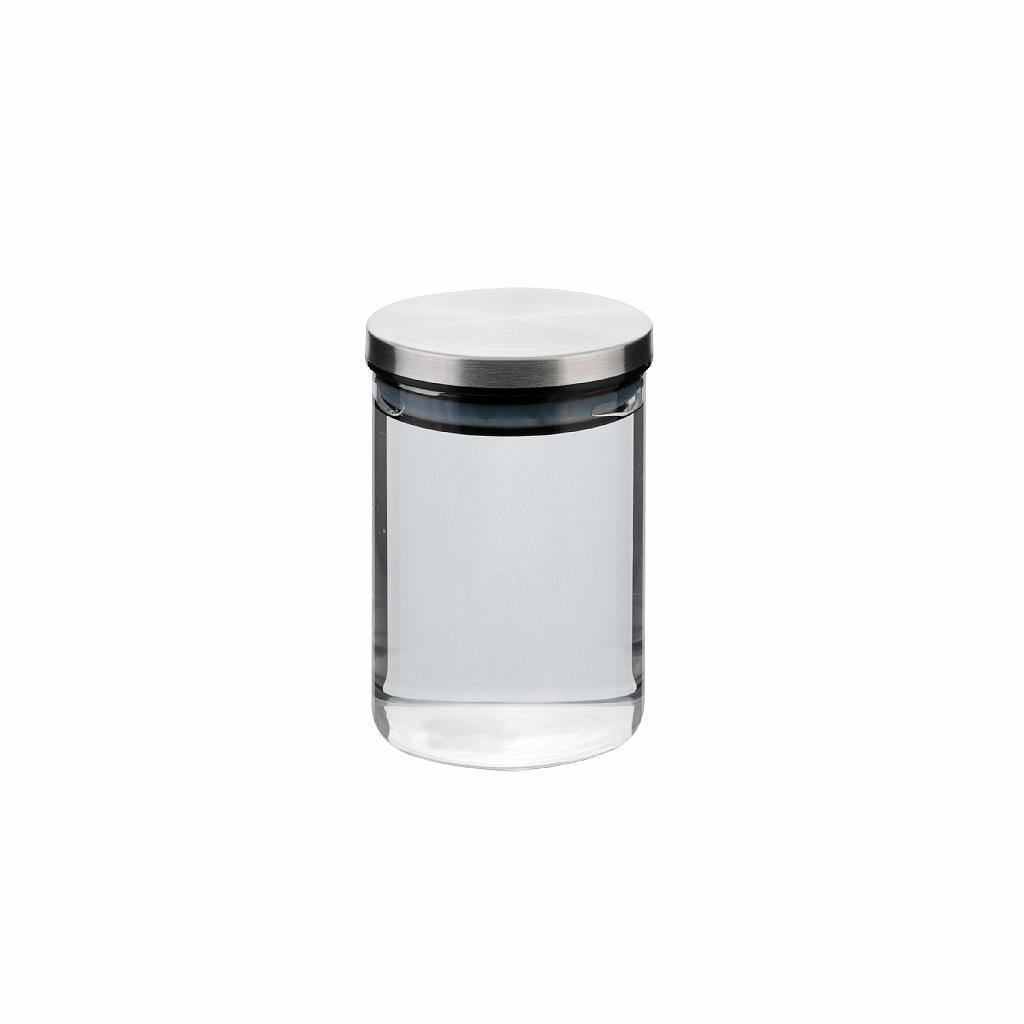 dóza 0,50l, d8,5x12cm AIRTIGHT, sklo+těsn.kov.víčk