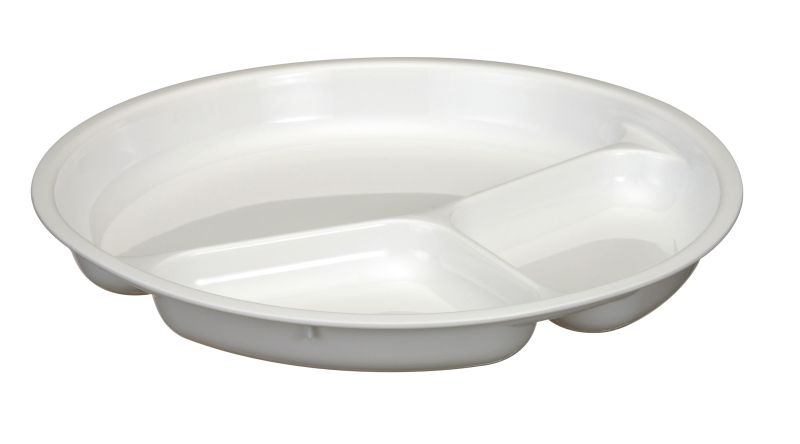 talíř d24,5cm dělený do MV trouby, plast