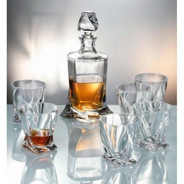 karafa 0,85l+6ks whisky QUADRO PREMIUM BOH.POL.