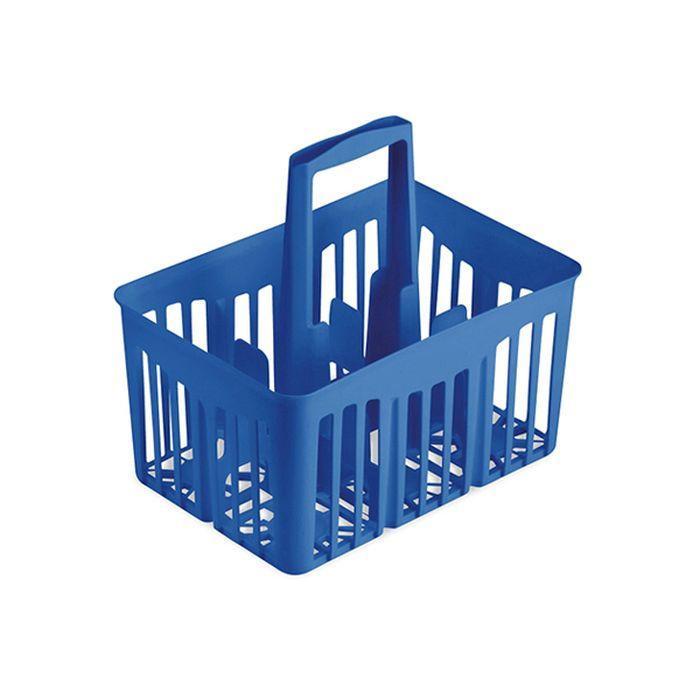 nosič 6ks lahví 1,0l, 30x21x28cm, modrý, plast