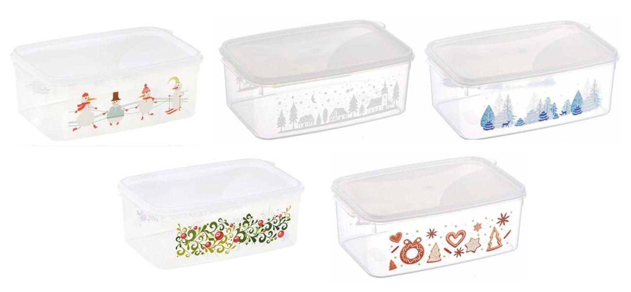 box  2,50l vánoční, 4motivy, 23x15x9cm, plast