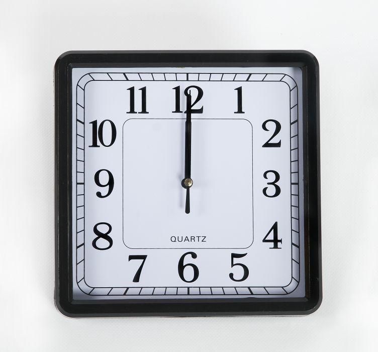 hodiny 21x21cm, čtverec, MIX barev