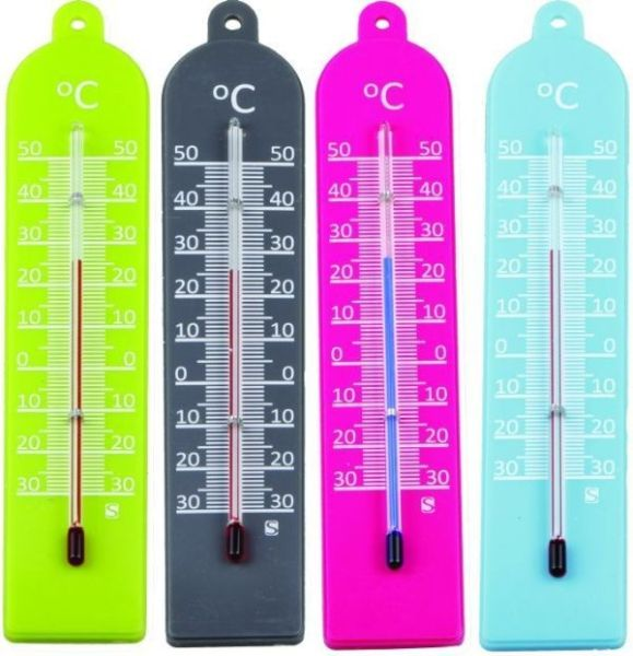 teploměr 17,0x3,5cm univ., -30°C+50°C, PLASTIC MIX