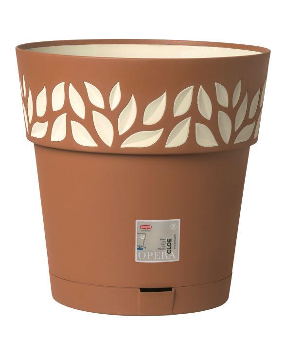 květ. d30xh29cm TERA/vanila CLOE+miska