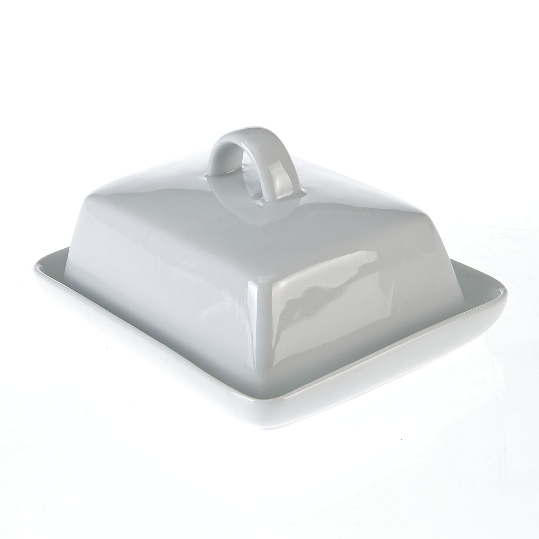 máslenka 16x13x6cm bílá, porcelán