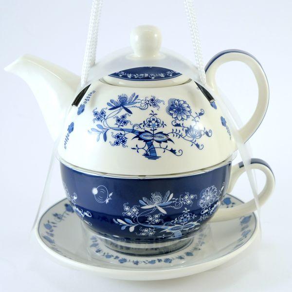 čajník 400ml+šapo 340ml, CIBULÁK, porcelán