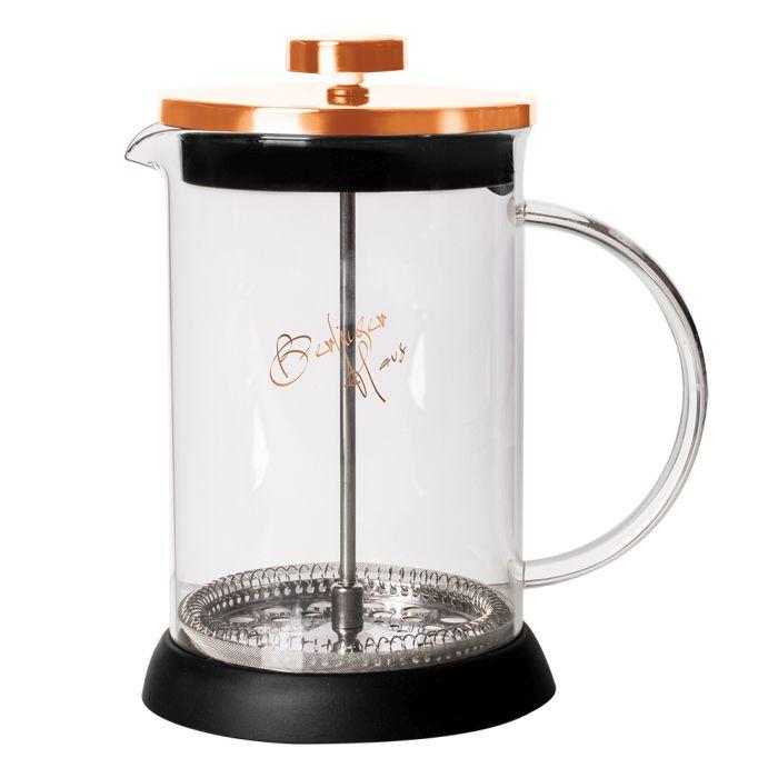 konvice 0,60l ROSE GOLD COL., COFFEE MAKER, sklo+p