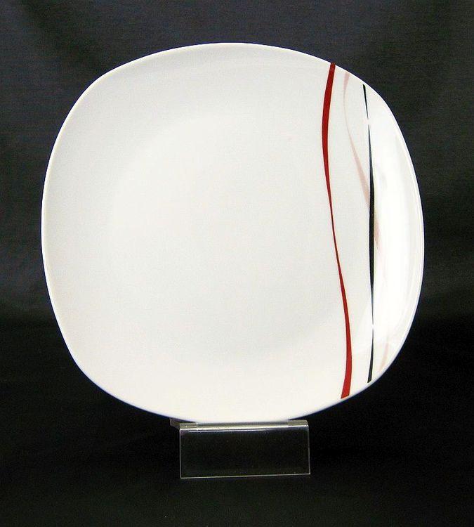 talíř d26,5cm mělký, AMELIE dekor, porcelán
