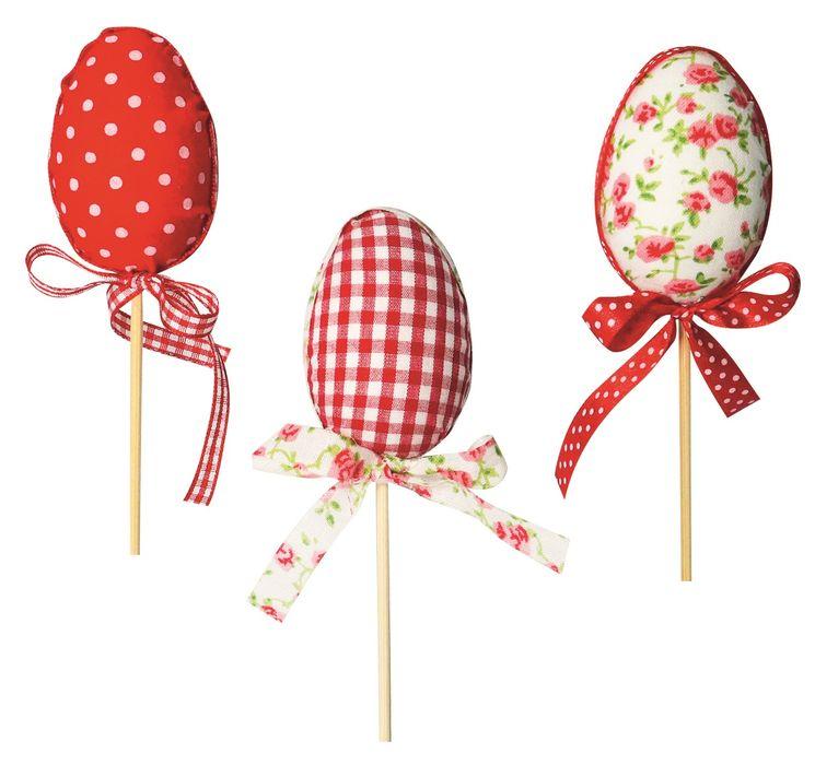 dekorace Vajíčko látkové 5cm, zápich