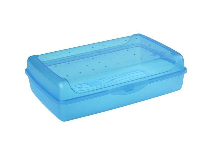 box  3,7l klick-Box, sv.modrý,transp.,30x20x8,5cm,