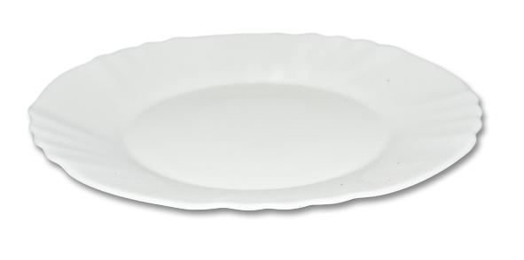 talíř d20cm dezertní EBRO bílý, opál.sklo 1/21