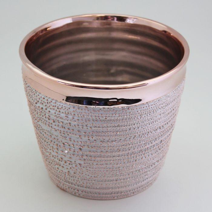 obal d9,6, v8,6cm růžové zlato, keramika