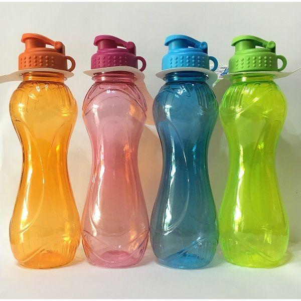 láhev 0,7l KÓNICKÁ s nápitkou,2barvy, plast