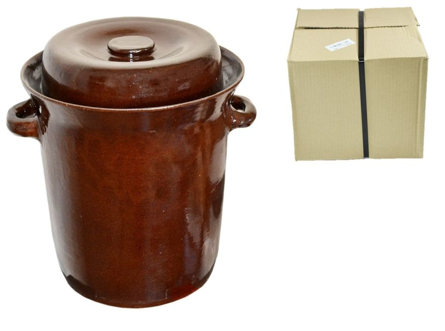 zelák 10l+víko (22/24cm), KART.OBAL, keramika