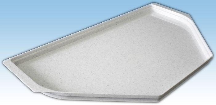 podnos 53x30cm, zkos.granit bílý, -30+70°C
