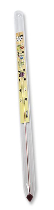 teploměr 33cm zavařovací, 30°C+100°C, krátký