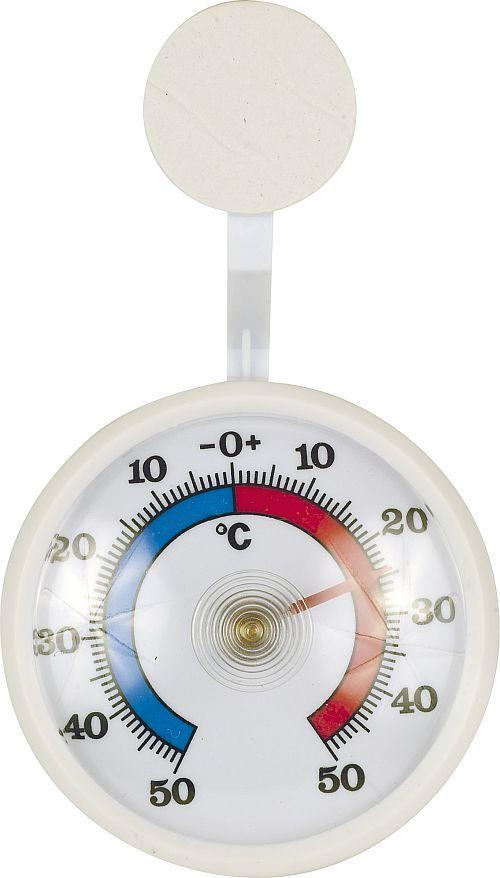 teploměr   d 7,0cm okenní, -50°C +50°C, bimetal, b