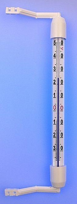 teploměr 19,0cm okenní, -35°C+50°C, plast.obj.