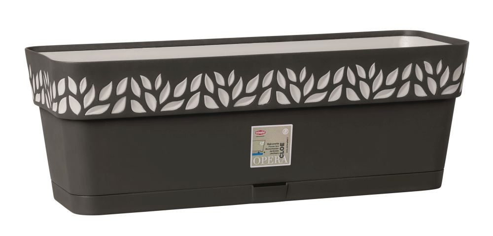 truhlík 50cm GRAFIT/šedá CLOE+miska