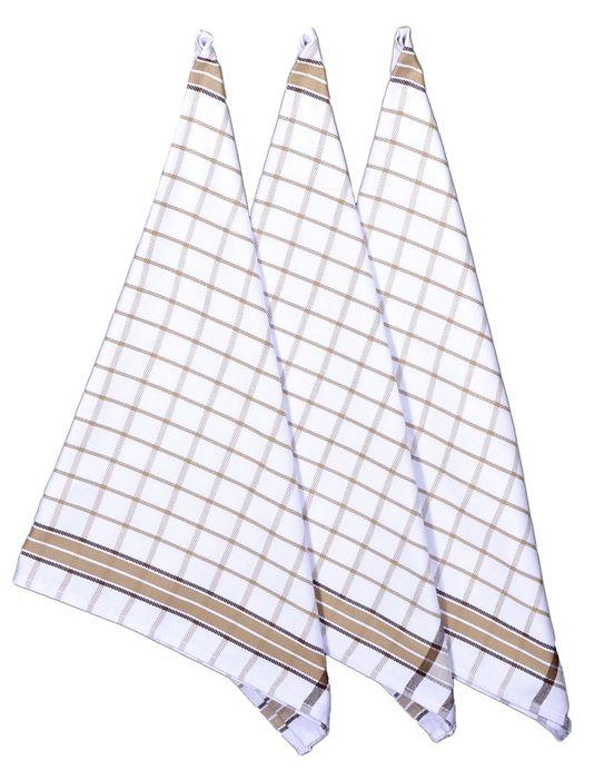 utěrka 3ks 70x50cm-BROWN-kuch., 100% bavlna